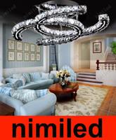 tienda de ropa abrigada al por mayor-Nimi788 Lámparas de araña de cristal claras modernas LED luces de la sala de estar del techo Lámparas de la tienda Ropa de abrigo Restaurante Droplight