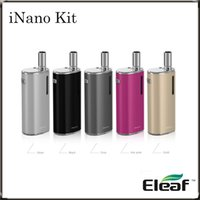 Wholesale E Cigarette Mah - Eleaf iNano Kit 650 mAh Battery Capacity Tiny e-Cigarette iNano Kit with a Inserted Atomizer by Magnetic Connector on-the-go Kit100%Original