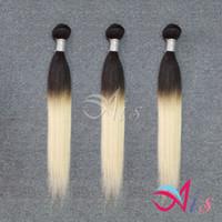 Wholesale per hair resale online - Cheap A Brazilian Hair Ombre Hair Tones Straight B Brazilian Weave Bundles g per pc NO Shedding Human Hair Weave