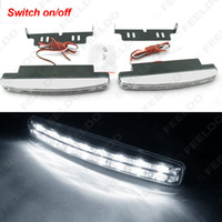 Wholesale Euro Drl - LEEWA White Automatic Switch ON OFF Fog Light Euro Car DRL Daytime Runing Light #2467