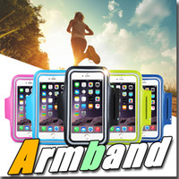 Wholesale Iphone Case Metal Blue - For Iphone 6 Waterproof Sports Running Case Armband Running bag Workout Armband Holder Pounch For iphone Cell Mobile Phone Arm Bag Band