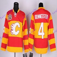 Wholesale Wholesale Drop Stops - Stitched Calgary Flame #4 Jay Bouwmeester Red winter classic Hockey Jerseys Ice Jersey do Drop Shipping,Mix Order