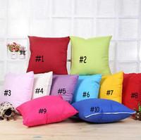 Wholesale Cushion Cover Cores - Euclidean candy color 45*45cm hold pillow case with pillows Sofa cushion pillow cover no core pillowcase