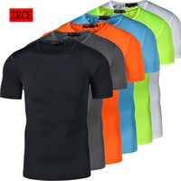 Wholesale Bicycling T Shirts - Freeball Men's Compression Tights Shirt Running Bicycle Fitness tees Shorts Sleeve Outdoor Quick-drying Traning T-shirt