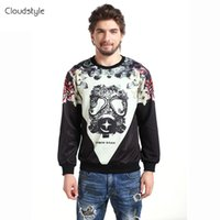 Wholesale Unique Sweatshirts - Wholesale-Attractive Hoody Hot Style Men Hoodies 3D Printed Unique Feather Exquisite Respirator Printed Pullover Graceful Sweatshirt