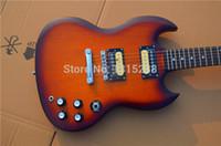 Wholesale Sg Guitar Brown - free shipping new guitarra SG guitar shop oem electric guitar yellow color guitarra guitar in china