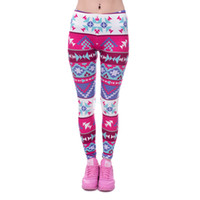 Wholesale Legging Aztec - Women Fashion Legging Aztec Round Ombre Printing leggins Slim High Waist Leggings Woman Pants 03