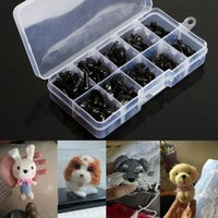 Wholesale Plastic Safety Noses - 100pcs box 8 9 11 13.5 15mm Mini Black Plastic Safety Nose Triangle For Doll Teddy Stuffed Animals Toys Dolls Accessories