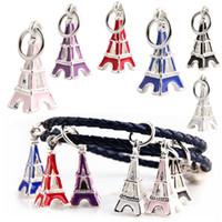pulseiras eiffel venda por atacado-Atacado Contas de Liga de Metal da Torre Eiffel Projeto Encantos Esmalte para Pandora Cadeia Pulseira Melhor Presente de Natal