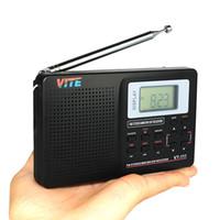 Wholesale Digital Clock Radios - Portable DSP FM Stereo   MW   SW   LW Radio World Band Receiver Digital Alarm Clock F9201A
