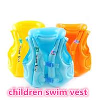 piscinas infantis infláveis venda por atacado-Novas crianças nadar colete crianças piscina natação vida colete crianças criança jaqueta de vida salvar terno inflável nadar colete kid397