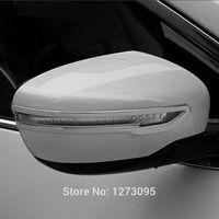 Wholesale Side Door Mirror Covers - For 2014 2015 Nissan X-Trail X Trail XTrail Rogue T32 Chrome Mirror Cover Trim Side Door Rear View Mirror Decoration Strip 2pcs