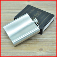 Wholesale Uses Alcohol - 6oz Stainless Steel Pocket Hip Flask Liquor Alcohol wine Whisky Pocket Bottle Flagon wine pot can use mini funnel 240393