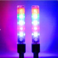 ventile manuell großhandel-5 LED Fahrrad Reifen Licht heißes Rad American Ventil Fahrrad LED Licht 32 Muster veränderbar Handschalter Rad Licht