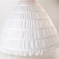 Wholesale Hoop Dresses For Sale - 2016 Hot Sale Ball Gown In Stock Wedding Accessories Petticoat Ball Gown 6 Hoops Underskirt For Wedding Dress Crinoline Q05