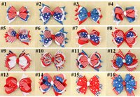 Wholesale plastic hair clips for kids for sale - Group buy DHL FREE the Stars and the Stripes Hair Clips the Union Jack Bow knot Barrettes for Kids Flag Hair Pins Girls Flag Hair Barrettes colors