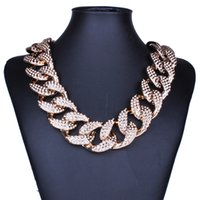 Wholesale thick asian women - Wholesale Golden Silver Europe and America Fashion Jewelry Punk Thick Short Alloy Link Chains Men Women Unisex Necklace HD-159