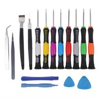 Wholesale Kit Screwdrivers Pc Phone - 16 in 1 Repair Pry Tool Opening Kit Disassemble Screwdrivers Torx For Apple iPhone iPad HTC Tablet PC Mobile Cell Phone