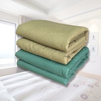 Wholesale Silk Fill Quilt - 1.5*2m Army Green Quilt Two Colors Cotton Surface Manual Quilt Filled With Blended Cotton Dormitory Military Training Supplies Comforter