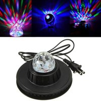 Edison2011 Nueva venta caliente con estilo a todo color LED Girasol 48 Leds lámpara del bulbo auto giratorio de MP3 Crystal Stage Light