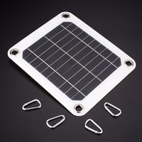 Wholesale 5v solar panel charger resale online - Solar Panel W V Solar Power Panel External Charger Outdoor Tablet Charger Mobile Cell Phone Battery Charger with USB Port