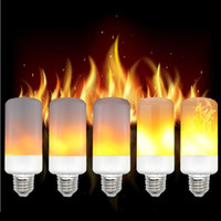 Wholesale simulation candle light - Simulation Flickering Flame Effect Led Bulbs Corn light E27 E26 5W Emulation Fire Flicker Burning Decoration lamp AC 85-265V