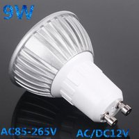 Wholesale 9w 3x3w High Power Led - High Power GU10 E27 GU5.3 E14 3x3W 9W Spotlight Lamp CREE LED 85~265V Light Bulb Downlight