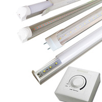 Wholesale Dimming Led Light Tubes - 2ft 3ft 4ft 5ft silicon controlled dimmable led tube Traic dimmer T8 LED bulb lamp AC110V or AC230V imput 4ft 18W led lights