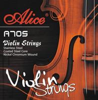 cuerda de violín al por mayor-Alta calidad V705 Violín Cuerdas E A D G para Violino 1/4 1/2 3/4 4/4 Cuerdas violín piezas accesorios