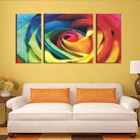 Red Big Colorful Rose Wall Art Painting Pictures Imprimir na tela Flower The Picture For Home Decoração moderna