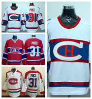 Wholesale classic winter jersey montreal for sale - Group buy Winter Classic Carey Price Jersey Montreal Canadiens Ice Hockey Jerseys Carey Price Red White Team Color Alternate Best Quality