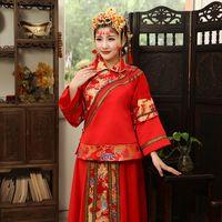 Wholesale Dress Improvement - Ancient costume clothing female show improvement restoring ancient ways chinese-style wedding wedding dress Prospective bride Toast suit