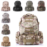 Wholesale Free 3d Golf - 3D Combination Backpack Camo Large Capacity Backpack Outdoor Climbing Multi-Function Sport Bag 8 Color Free DHL E599L