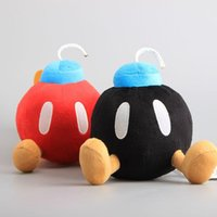 "Wholesale Mario Cm - 2 Colors Super Mario Bros Bomb Plush Toy Bomb Stuffed Dolls 7"" 18 CM"