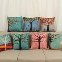ingrosso copertine coreane di cuscini-Nuovo cuscino coreano pastorale fiori freschi modello di cotone e lino copertura del cuscino casa decorazioni federa