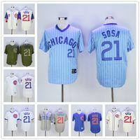 Wholesale Soft Jerseys - Sammy Sosa Jersey Soft Cool Base 2016 Flexbase New MLB Baseball Chicago Cubs Jerseys White Pinstripe Grey
