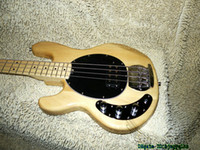Wholesale left hand basses resale online - Natural Strings Left Handed Electric Bass Maple Fingerboard OEM Guitars From China
