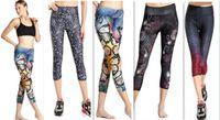 Wholesale Low Price Print Leggings - 2016 Women New Sexy fashion Multi-Color 3D Print was thin qualities elegant Leggings seven Pants yoga Sports Pants best quality low price 50