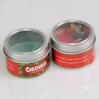 Wholesale Tin Candles Wholesale - 8 Hours Candle Tin ,Christmas Unscented Candles Colorful Star Paraffin Wax Aromatherapy Candles Product Code :121-1020