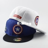 Wholesale Womens Wholesale Fashion America - Fashion Designer The Captain America With A Star Baseball Hats Hip Hop Caps Cotton Adjustable Snapback For Adults Mens Womens Summer Visor