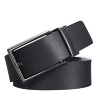 Wholesale Two Sided Belt - 2017 Brand Designer Belts Men High Quality Two sided use Cowhide Fashion Leather Buckle Men Belt Luxury Bussiness Casual