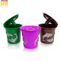 Wholesale Wholesale Drip Coffee - New Arrival Coffee Filter K Cup Office Home Supplies Reusable Espresso Filter Espresso Maker Cup Coffee Capsules Drip Cups Mixed Color