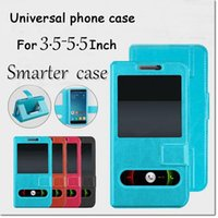 Wholesale Cellphone Covers Free Shipping - smarter phone case back cover with 2 screem windows 4 size with TPU inner for 3.5-5.5 inch cellphone DHL free shipping