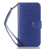Wholesale Book Style Credit Card Wallet - Book Style Crazy Horse Wallet Folio Stand Leather Case Cover with Credit Card Slot Money Pocket for Samsung Galaxy j7 2016