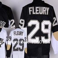 Wholesale Hockey Direct - Wholesale Youth Pittsburgh Penguins #29 Marc-Andre Fleury Black White kids Hockey Jerseys Factory Direct Supply Free Shipping