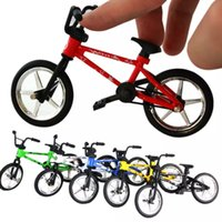 Wholesale Mini Finger Bmx - Mini BMX Bicycle Toy Excellent Finger Mountain Bike Creative Gift Workmanship Durable Bike Baby Children Toy FJ88