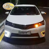 Wholesale Fog Lamp For Toyota Corolla - SNCN LED Daytime Running Light For Toyota Corolla 2014 2015 2016,Car Accessories Waterproof ABS 12V DRL Fog Lamp Decoration