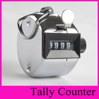 Hand Tally Mini Pas Cher-Nouvelle Meilleure Promotion Stainless Metal Mini Sport 5203 Hand Tally Counter Lap Clicker Golf Handheld Manuel Numéro à 4 chiffres Clicker Silver