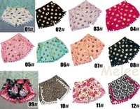 Wholesale Baby Girl Cheetah - 12color choose 0-8years Baby Toddler Shorts zebra Leopard Print Pom Pom Shorts Cheetah Animal Print girls tassel fringe short baby bloomers