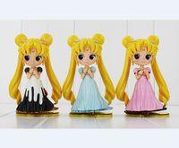 seemann venus puppe großhandel-Sailor Moon Q Pose Königin Jupiter Venus Pluto Sailor Moon Action Figure Puppen 15 CM Kostenloser Versand
